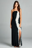 Strapless Tie Dye Maxi Dress