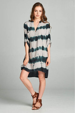 Tie Dye Shirt Dress