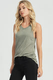 Brushed Knit Tank in Olive