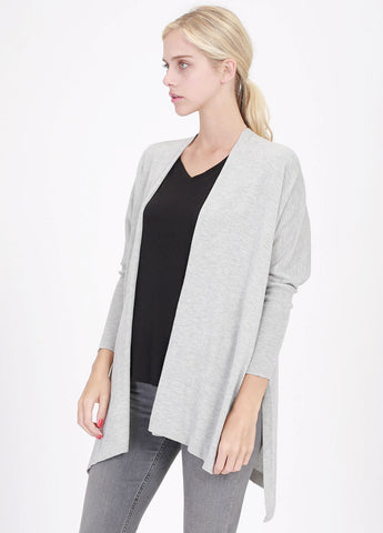 Knit Cardigan in Heather Grey