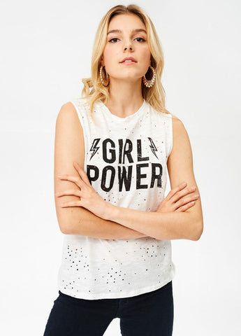 Girl Power Graphic Muscle Tee