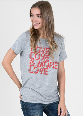 Love Love & More Love Graphic Tee