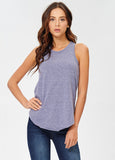 Round Neck Tank in Plum