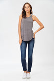 Round Neck Tank in Grey