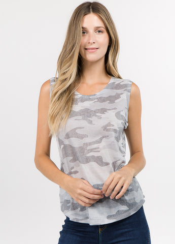 Sleeveless Camo Muscle Tee