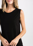 Malibu Sleeveless Muscle Tee in Black