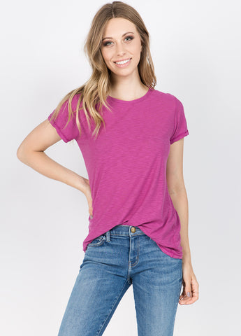 Laguna Short Sleeve Tee in Magenta