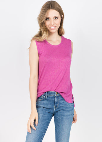Melrose Muscle Tee in Magenta