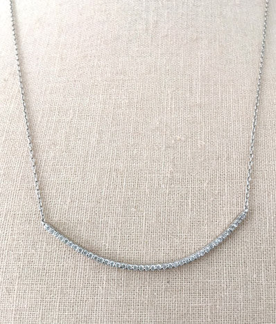 Silver Thin Crescent Necklace