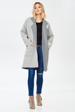 Long Sleeve Lapel Pockets Oversized Coat