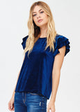 Double Ruffle Velvet Top