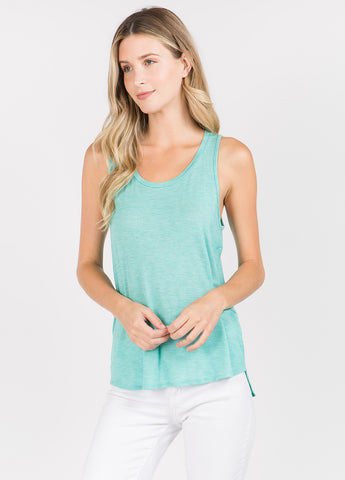 Round Neck Tank in Sweet Green