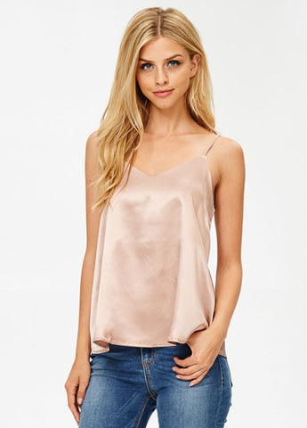 Silk Cami in Champagne