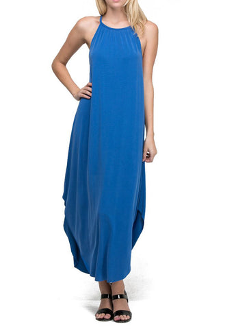 Midi Tank Dress in Snorkel Blue