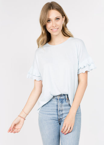 Double Ruffle Sleeve Tee