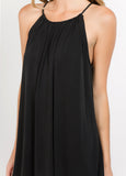Flowy Halter Dress in Black
