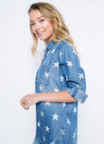 Star Print Denim Shirt
