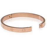 Screw Bracelet in Rose Gold