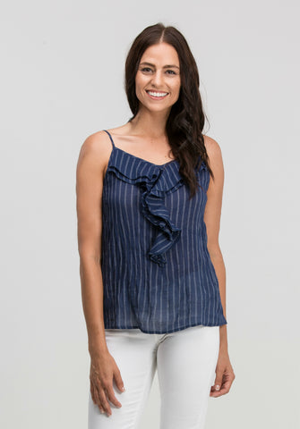 Striped Ruffle Camisole