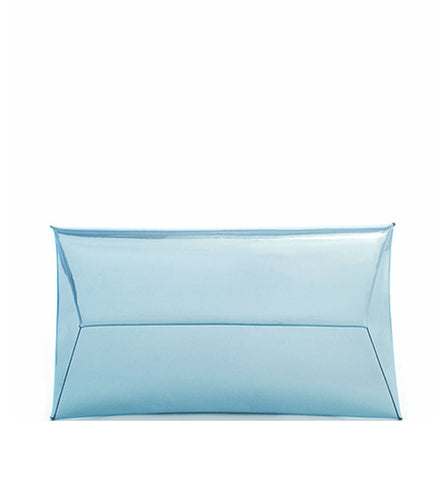 Alessandra Metallic Clutch in Ice Blue