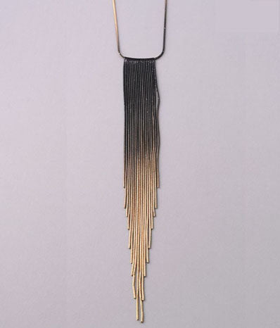 Ombre Chain Fringe Necklace