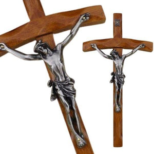Cross Crucifix  Relics Teak Wood -  SEA OF GALILEE CHRISTIAN SHOP