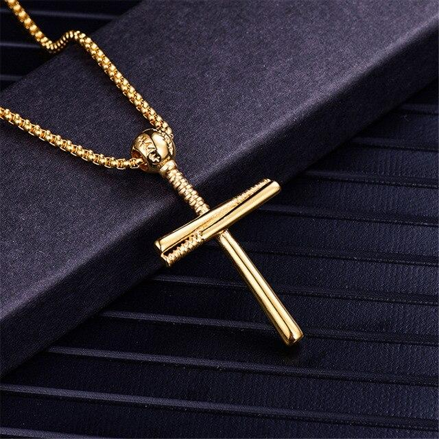 Cross Pendant Necklaces Silver Color Stainless Steel -  SEA OF GALILEE CHRISTIAN SHOP