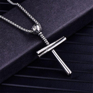 Cool Punk Baseball Cross Pendant Necklaces Male Silver Color Stainless Steel Necklace For Men/Women Fashion Jewelry 2020 New -  SEA OF GALILEE CHRISTIAN SHOP