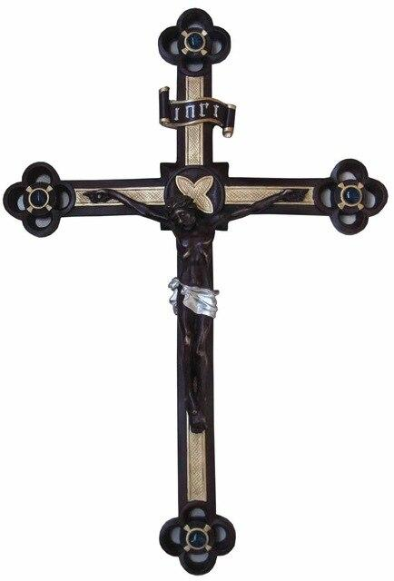 Cross Sculpture - Retro Crafts  Holiday Gift -  SEA OF GALILEE CHRISTIAN SHOP