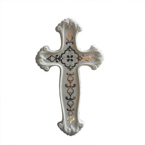 Porcelain Cross Statue -  SEA OF GALILEE CHRISTIAN SHOP