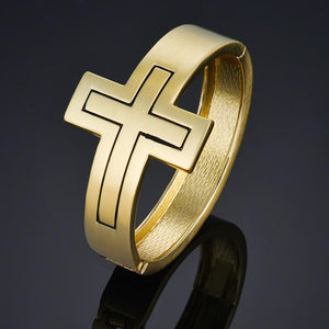 Cuff Bangles Cross Bracelets for Women Gold Pulsera Jewelry Crucifix Jesus Christ Bracelet Pulseiras Femininas -  SEA OF GALILEE CHRISTIAN SHOP