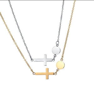 Female Cross Pendant Necklace Stainless Steel Statement Chokers Necklaces for Women Religious Jewelry Neckless Birthday Gifts -  SEA OF GALILEE CHRISTIAN SHOP