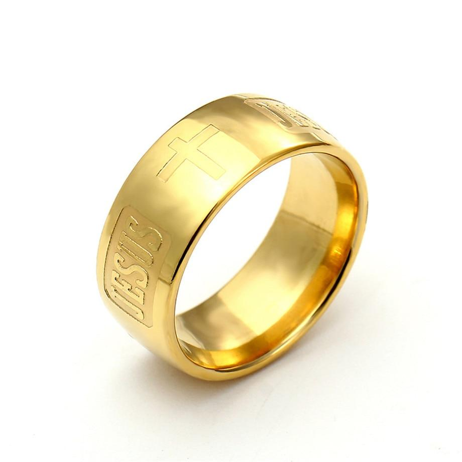 Cross Ring Gold Color  For Women/Men -  SEA OF GALILEE CHRISTIAN SHOP