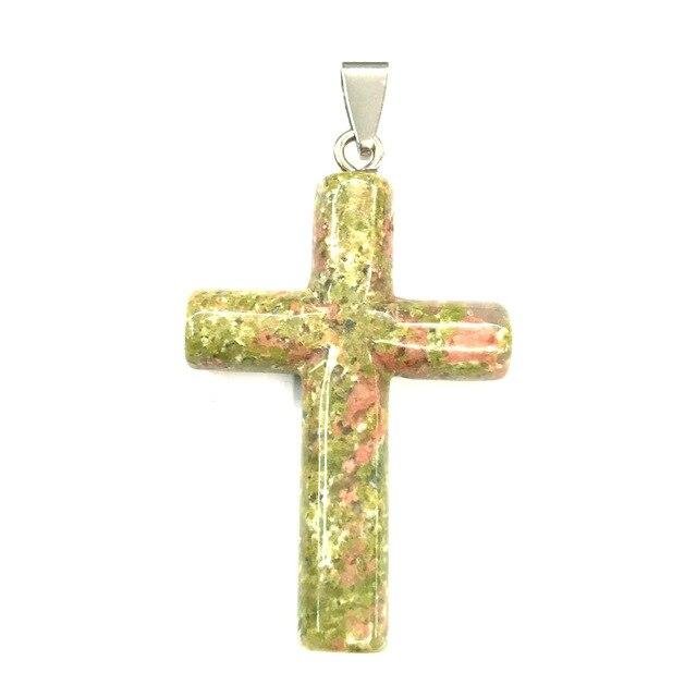 Natural Stone Pendants Cross -  SEA OF GALILEE CHRISTIAN SHOP