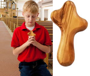 OLIVE WOOD HAND CROSS - L -  SEA OF GALILEE CHRISTIAN SHOP