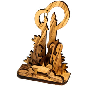 OLIVE WOOD NATIVITY set of two small nativity NS-7 -  SEA OF GALILEE CHRISTIAN SHOP