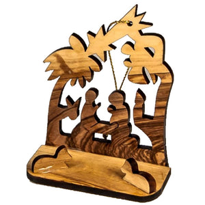 OLIVE WOOD NATIVITY set of two small nativity NS-8 -  SEA OF GALILEE CHRISTIAN SHOP