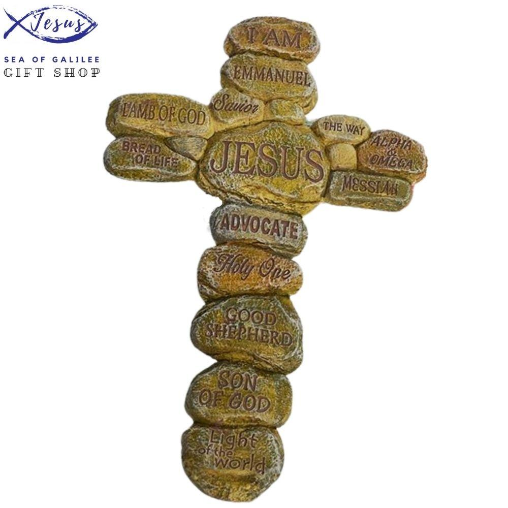 Resin Cross Statue -  SEA OF GALILEE CHRISTIAN SHOP