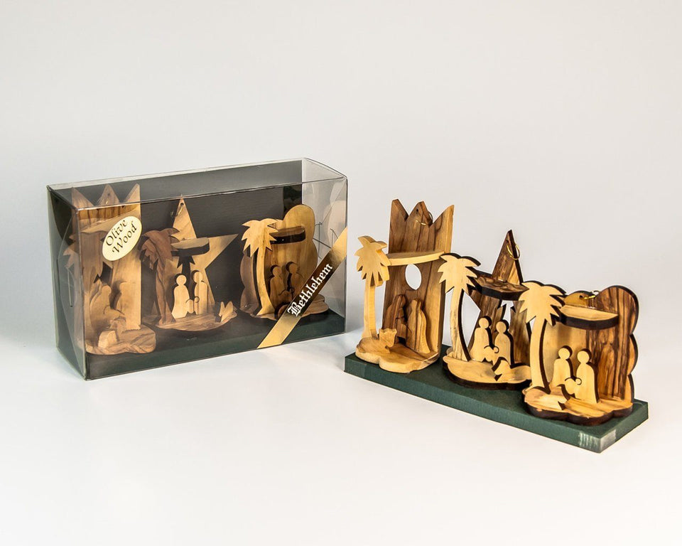 SET OF THREE SMALL NATIVITY -  SEA OF GALILEE CHRISTIAN SHOP