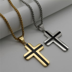 Cross Pendants Necklaces With Long Chain -  SEA OF GALILEE CHRISTIAN SHOP