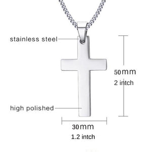 Stainless cross pendant in four colors -  SEA OF GALILEE CHRISTIAN SHOP