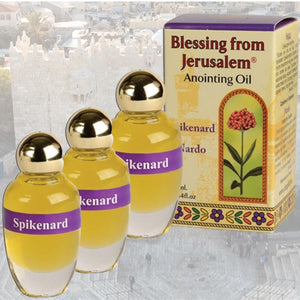 Three bottles of Spikenard - Anointing Oil -  SEA OF GALILEE CHRISTIAN SHOP