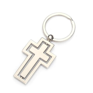 Rotatable Pendant Cross Shaped Keychain -  SEA OF GALILEE CHRISTIAN SHOP