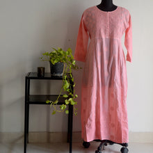 Load image into Gallery viewer, Dark Peach Cotton Anarkali