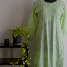 Load image into Gallery viewer, Green Cotton Anarkali