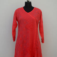 Load image into Gallery viewer, Carrot Pink A line Angrakha Kurta