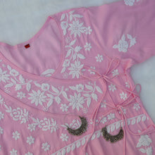 Load image into Gallery viewer, Baby Pink Angrakha Straight Kurta