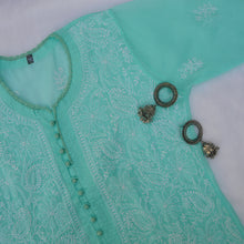 Load image into Gallery viewer, Sea Green Potli Buttoned Kurta