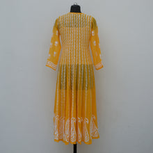 Load image into Gallery viewer, Yellow Angrakha Anarkali