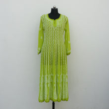 Load image into Gallery viewer, Green Georgette Anarkali